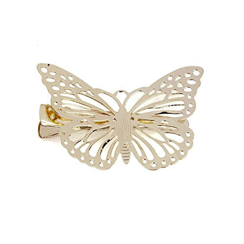 Sannysis Bling Golden Butterfly Hair Clip Headband Hair Accessories Headpiece