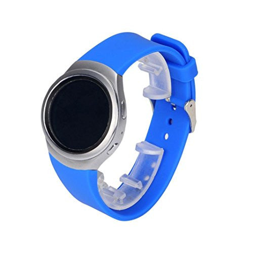 for Samsung Gear S2 Band,Voberry® Luxury Silicone Samsung Smartwatch Replacement Band for Samsung Gear S2 SM-R720 (Blue )