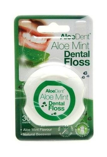 (8 PACK) - Aloe Dent Aloe Vera Dental Floss | 30MtrMtr | 8 PACK - SUPER SAVER - SAVE MONEY