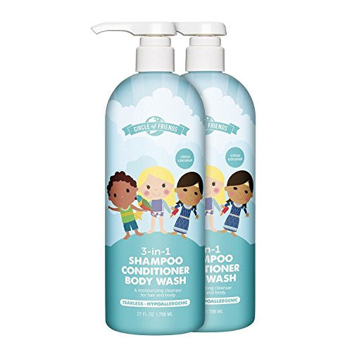 Circle of Friends 3-in-1 Shampoo, Conditioner & Bodywash (27 fl. oz., 2 pk)
