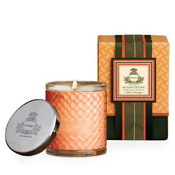 Agraria Woven Crystal Perfume Candle, Bitter Orange, 7oz