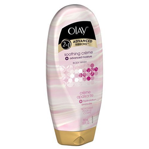 2-in-1 Advanced Ribbons Soothing Creme + Advanced Moisture Body Wash 18 Oz 18OZ , (Pack of 9) by Olay