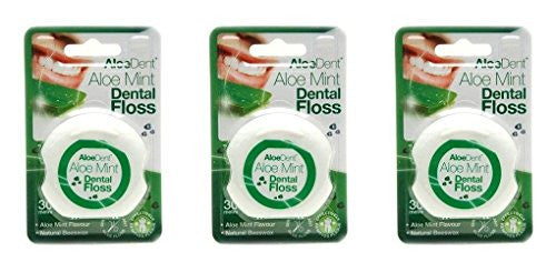 (3 PACK) - Aloe Dent Aloe Vera Dental Floss | 30MtrMtr | 3 PACK - SUPER SAVER - SAVE MONEY