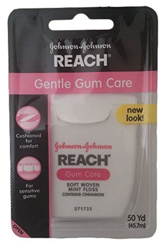 Reach Gentle Gum Care, Fluoride Mint, Soft Woven, 50yd