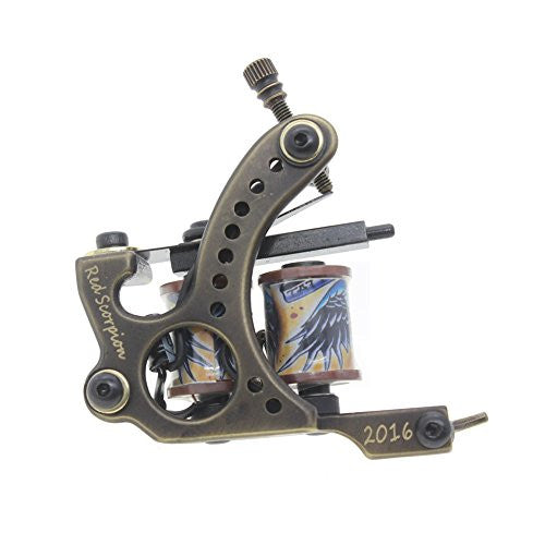 Coil Tattoo Machine Tattoo Gun Brass Frame Handmade Redscorpion (Liner)