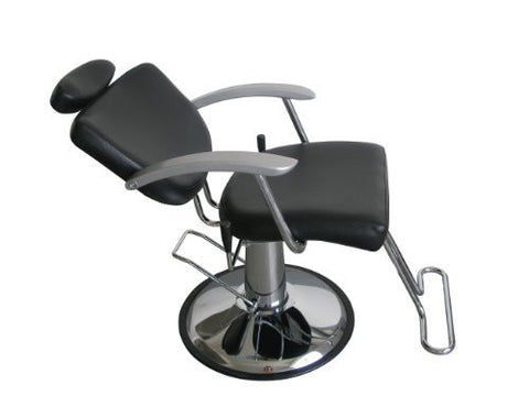 Exacme Hydraulic Recline Barber Chair Salon Beauty Spa Shampoo Chair Black/White Creme 8702bw