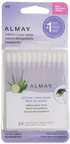 Almay Makeup Eraser Sticks Oil Free 24 Count Each (Pack of 5)
