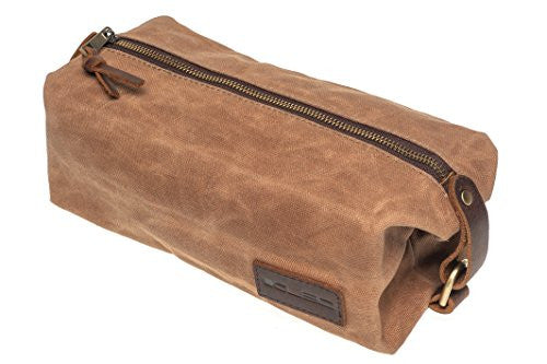 KUBO Waxed Canvas Toiletry Bag or Dopp Kit Bag - Waterproof, Durable, Chic & Stylish - Ideal Travel Toiletry Bag for Men & Women - Versatile Toiletry Kits Bag Design - Ideal Gift - Beige