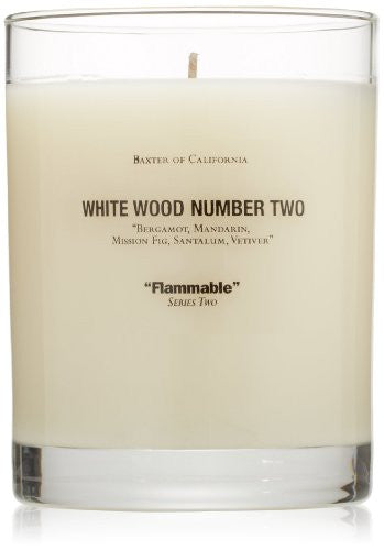 Baxter of California Scented Candle, White Wood Number Two