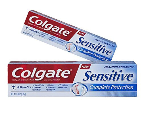 (2 Pack) Colgate Sensitive Complete Protection Toothpaste, 6.0 Oz. ea.