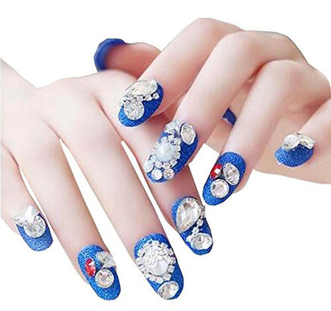 Bundle 2items cala professional 200 nail tips royal salon natural dolly2u 24 pcs pre designed wedding bride daily use art false nails set prinsesfo Image collections