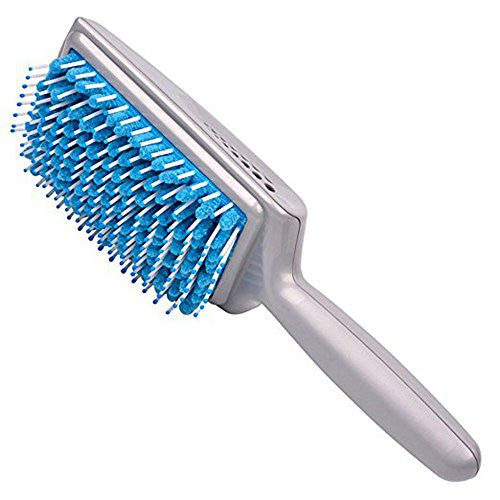 Finders Quick Absorbent Hairbrushes Antimicrobial Microfiber Dry Faster No Tangle Hair Brushes (BLUE)