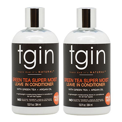 "tgin Green Tea Super Moist Leave in Conditioner 13oz / 384ml ""Pack of 2"""