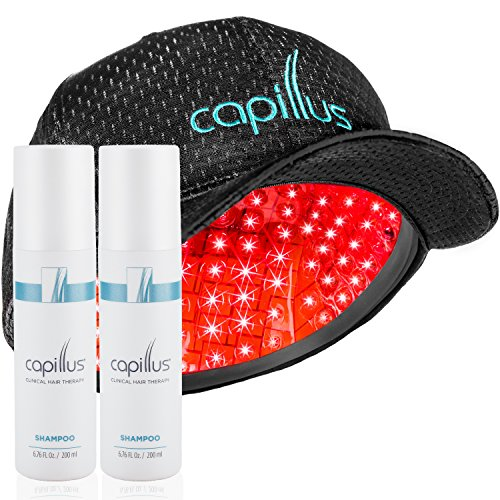 Capillus 202 Laser Hair Growth Treatment & 2 Exfoliating Shampoos - New Flexible Fit - Sulfate Free - Clinically Proven - FDA Cleared - Recommended by Doctors to Reverse Balding & Regrow Hair