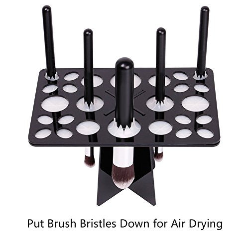 Docolor Makeup Brushes Tree Air Drying Stand Holder Rack Dryer Tower Organizer Tool (Black)