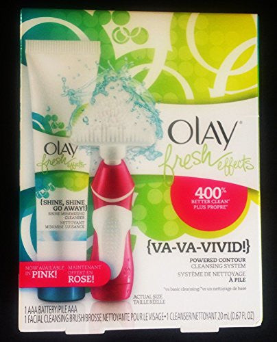 (Pack of 6),Olay Fresh Effects Va Va Vivid Powered Contour Cleansing System, (Pink/Rose)