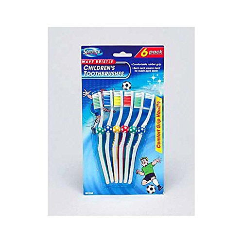144 Childrens soccer toothbrushes