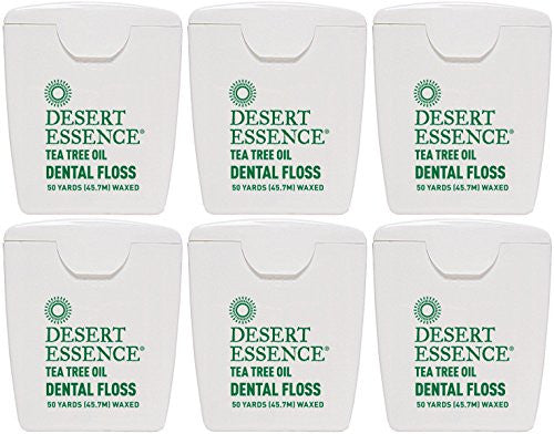 (6 PACK) - Desert Essence - Tea Tree Dental Floss 6 | 1unit | 6 PACK BUNDLE