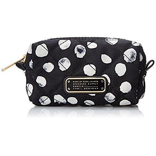Marc by Marc Jacobs Crosby Quilt Nylon Deelite Dot Small Cosmetic Case, Black/Multi, One Size