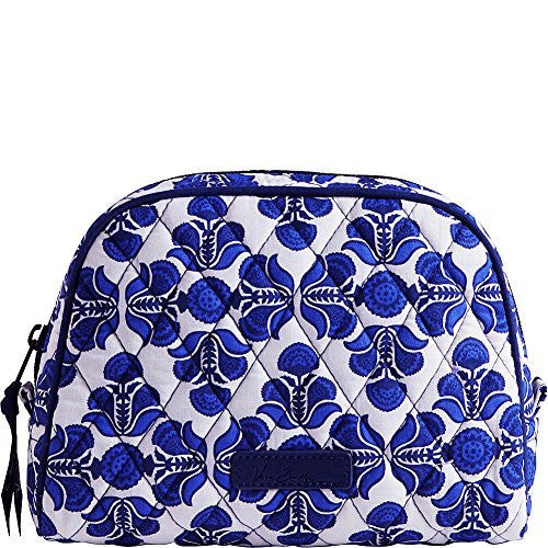 Vera Bradley Luggage Women's Medium Zip Cosmetic Cobalt Tile Luggage Accessory