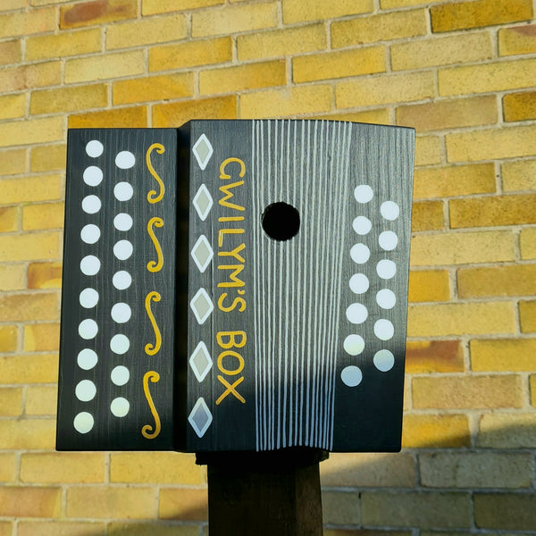 Personalised Accordion - Melodeon Bird Box