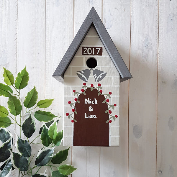 Personalised Wedding Bird Box - Lindleywood