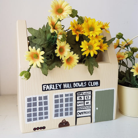 Personalised Bowls Club Plant Holder - Lindleywood