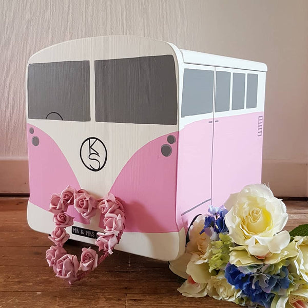 Campervan Personalised Wedding Post Box - Lindleywood