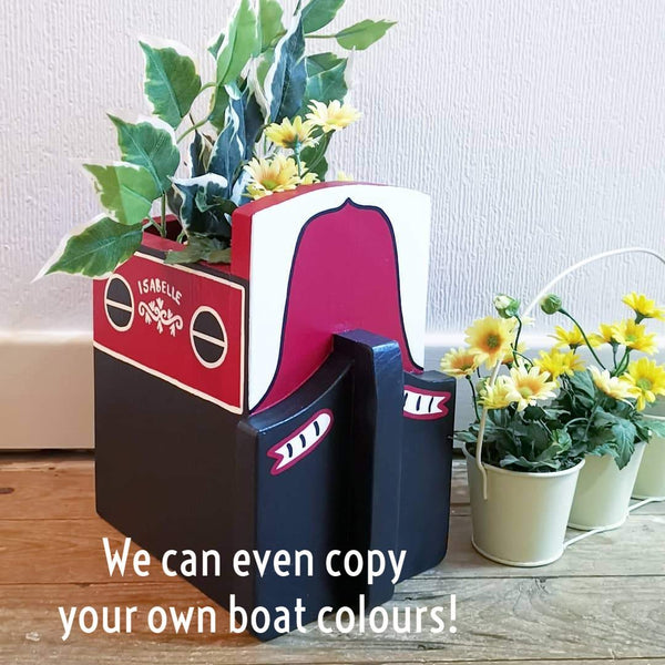 Personalised Narrowboat Canal Boat Mini Planter - Lindleywood