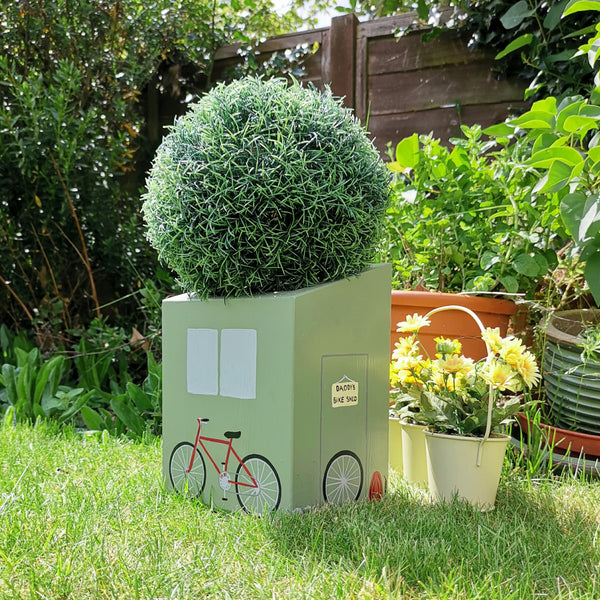 Personalised Bike Shed Mini Planter - Lindleywood