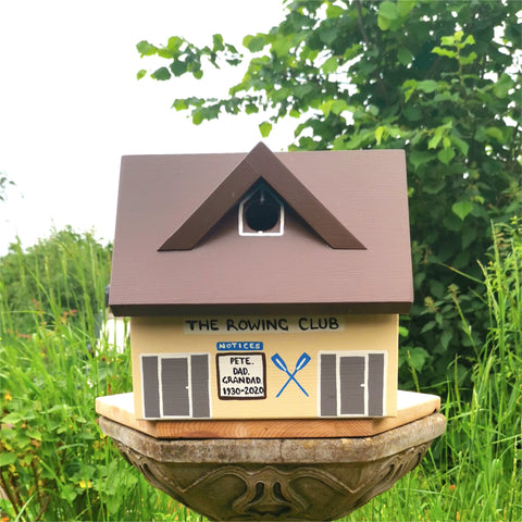 Personalised Rowing Club Bird Box