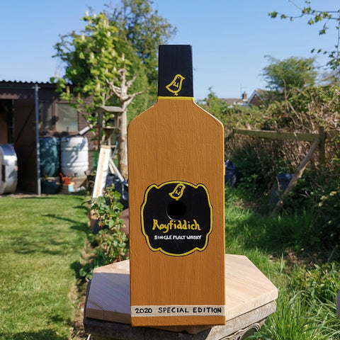 Personalised Whisky Bottle Bird Box - Lindleywood