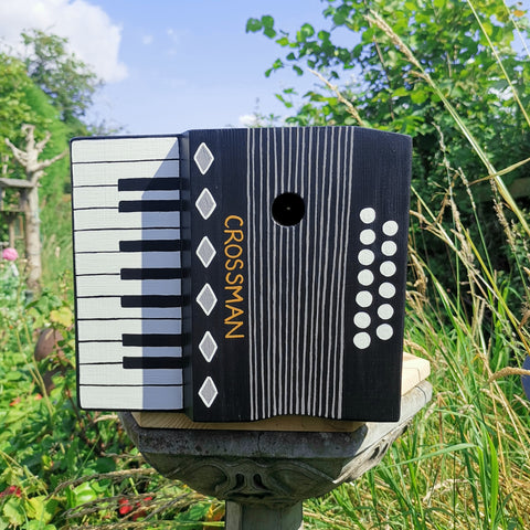 Personalised Accordion Bird Box - Lindleywood