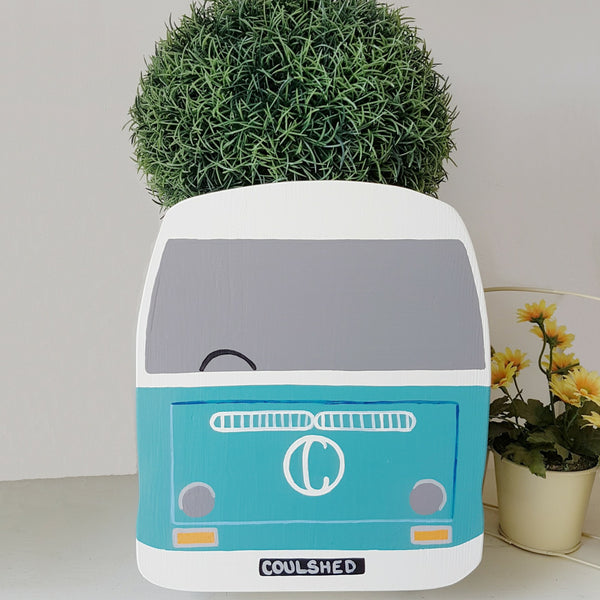 Personalised Bay Campervan Mini Planter - Lindleywood