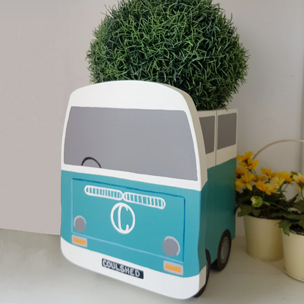 Personalised Bay Campervan Plant Holder - Lindleywood