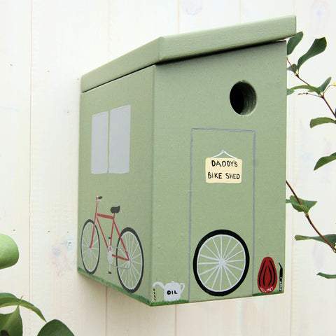 Personalised Bike Shed Bird Box