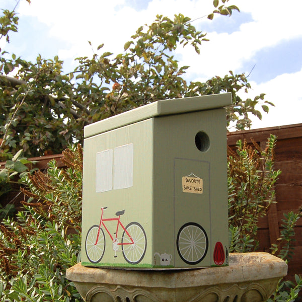 Personalised Bike Shed Bird Box - Lindleywood
