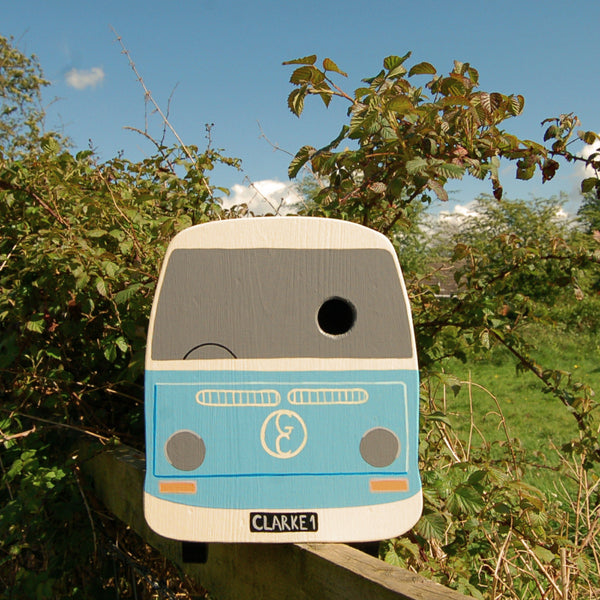 Personalised Bay Campervan Bay Bird Box - Lindleywood