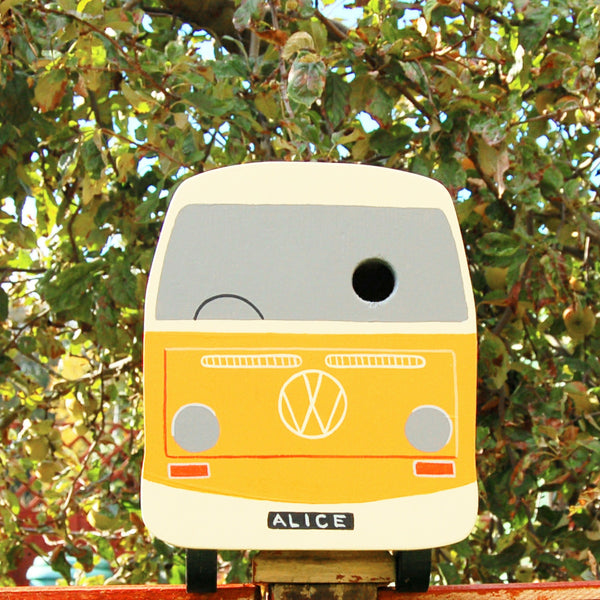 Campervan Bird Box - Grace White and Marigold