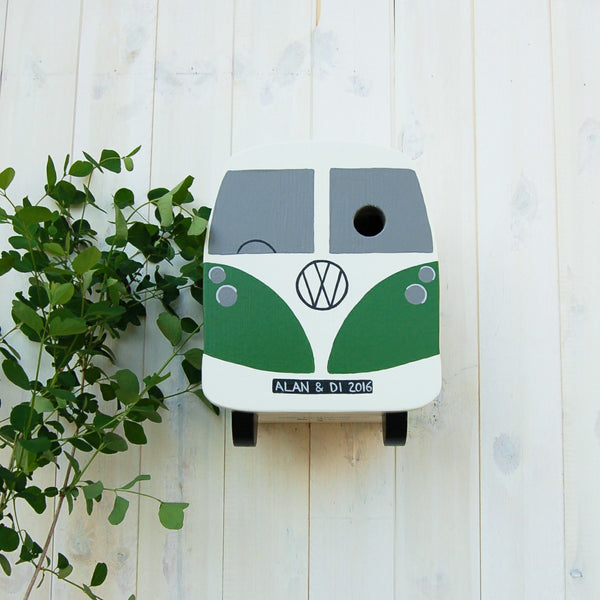 Personalised Campervan Split Screen Bird Box - Lindleywood