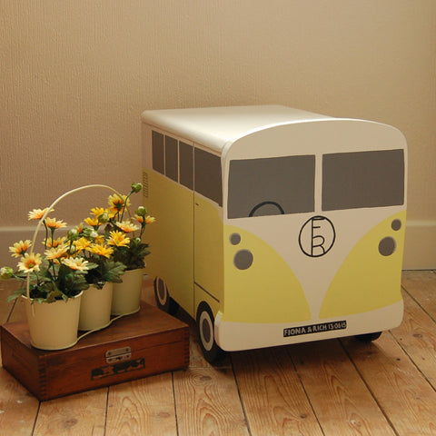Campervan Storage Box - Grace White and Lemon Mivvi