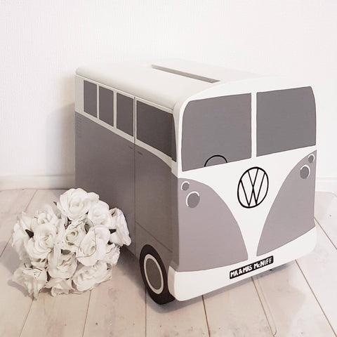 Campervan Personalised Wedding Post Box