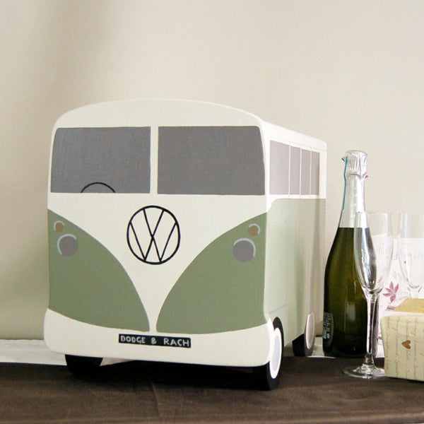 Campervan Wedding Post Box - Grace and Sage Green