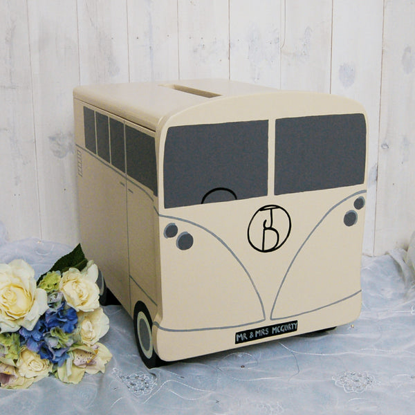 Campervan Wedding Post Box - Ivory and Ivory