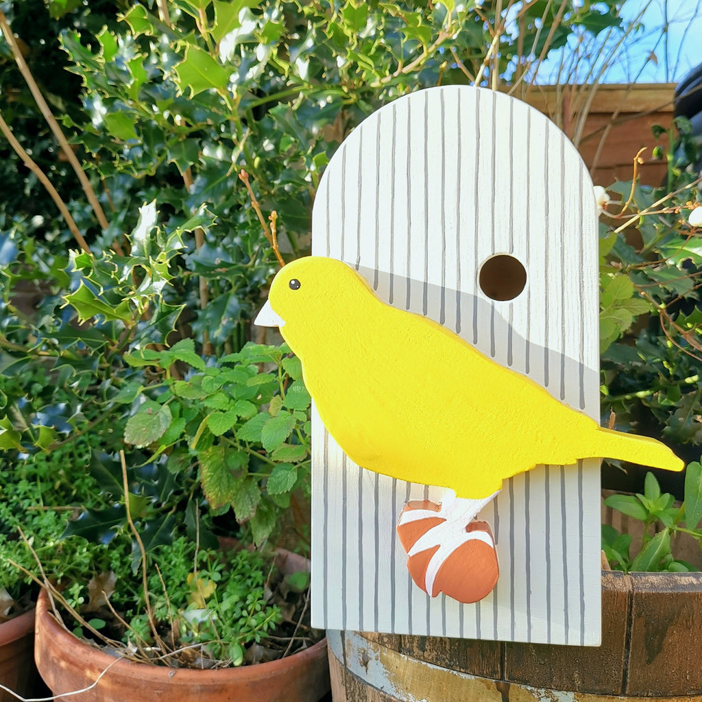 Handcrafted Canary and Cage Bird Box - Lindleywood