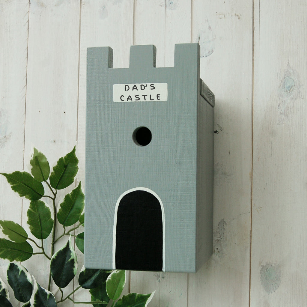 Personalised Castle Bird Box - Lindleywood