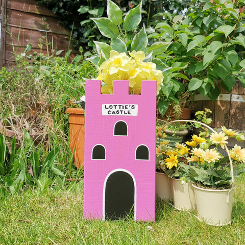 Personalised Castle Plant Holder - Lindleywood