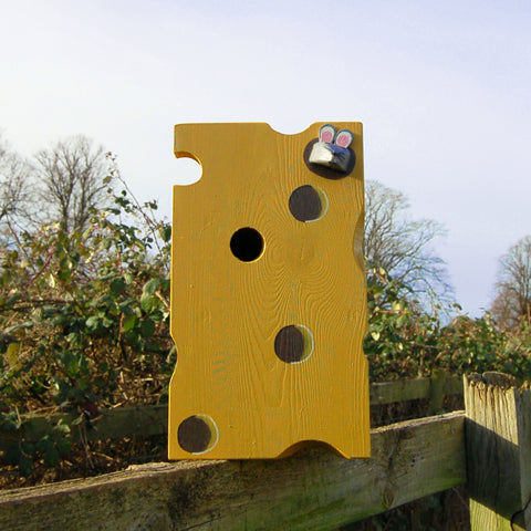 Handcrafted Cheese and Mouse Bird Box - Lindleywood