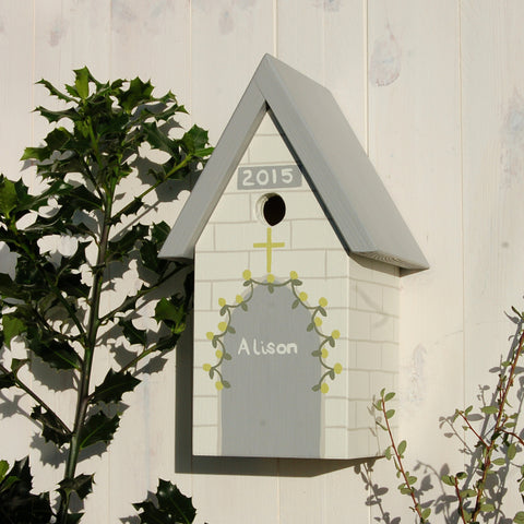 Personalised Christening Bird Box - Lindleywood