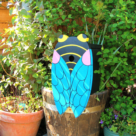 Handcrafted Insect Cicada Bird Box - Lindleywood